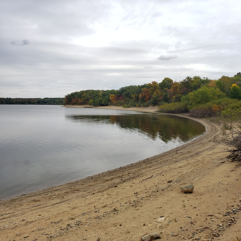 Fall colors emerge at the north end of Lake Shelbyville near the Wilborn Creek Recreation Area