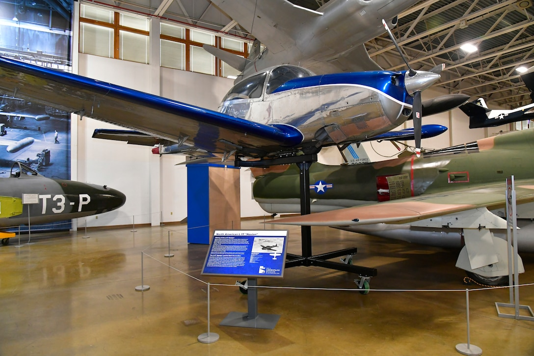 A static display of former Utah Sen. Jake Garn's personal 1948 Navian aircraft.