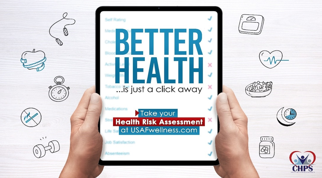 The Air Force Civilian Health Promotion Services program (CHPS) is a mobile worksite wellness program providing free health and wellness services and resources to the Federal Civilian workforce at Edwards AFB, and they have a great way for you to take charge of your health by completing the Health Risk Assessment (HRA) Wellness Profile!