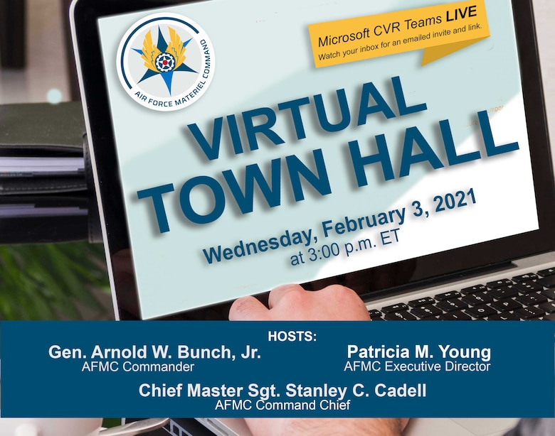 Virtual Town Hall graphic