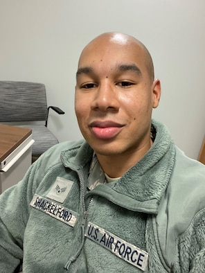 Senior Airman Louis Shackelford, an Aerospace Medical Technician for the 446th Aerospace Medicine Squadron, initiated a clothing drive in his unit for those who have unstable living conditions in the Pacific Northwest area. (Courtesy photo)
