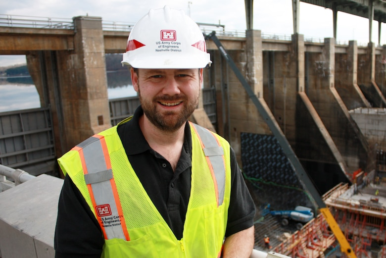 Ryan Cleary, project engineer at the Chickamauga Lock Replacement Project Resident Engineer Office, is the U.S. Army Corps of Engineers Nashville District Employee of the Month for November 2020. (USACE photo)