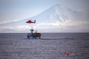 MH-65 crew medevacs fisherman near Dutch Harbor, Alaska