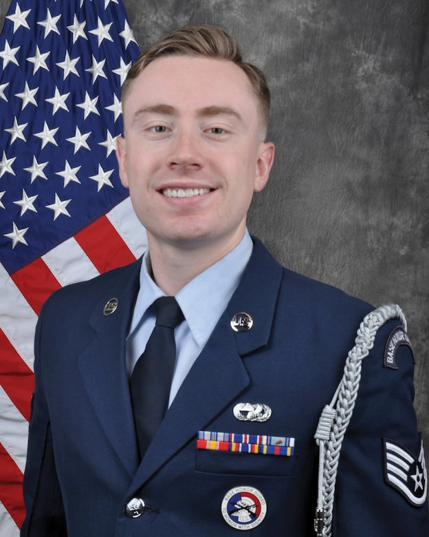 Staff Sgt. Shane Ellis, 87th Aerial Port Squadron, won the 2019 Air Force Reserve Command's Base Honor Guard Member of the Year.