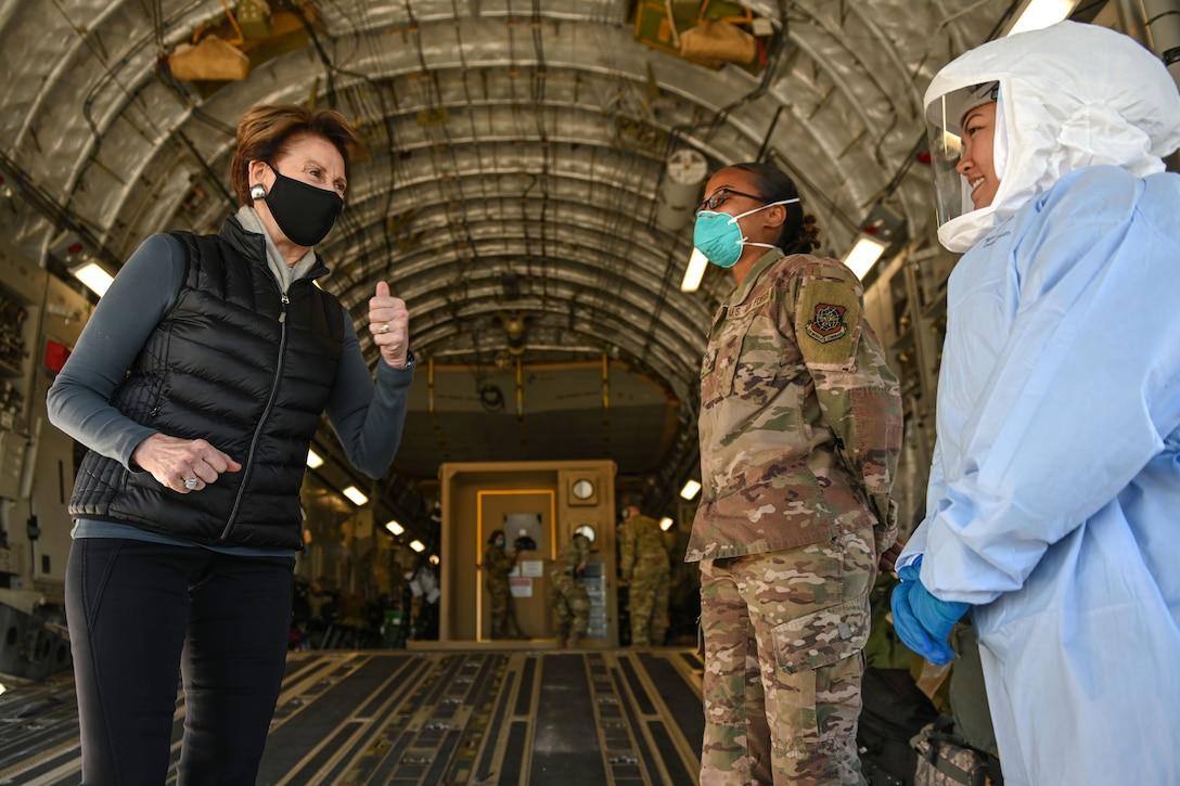 SecAF visits Travis AFB