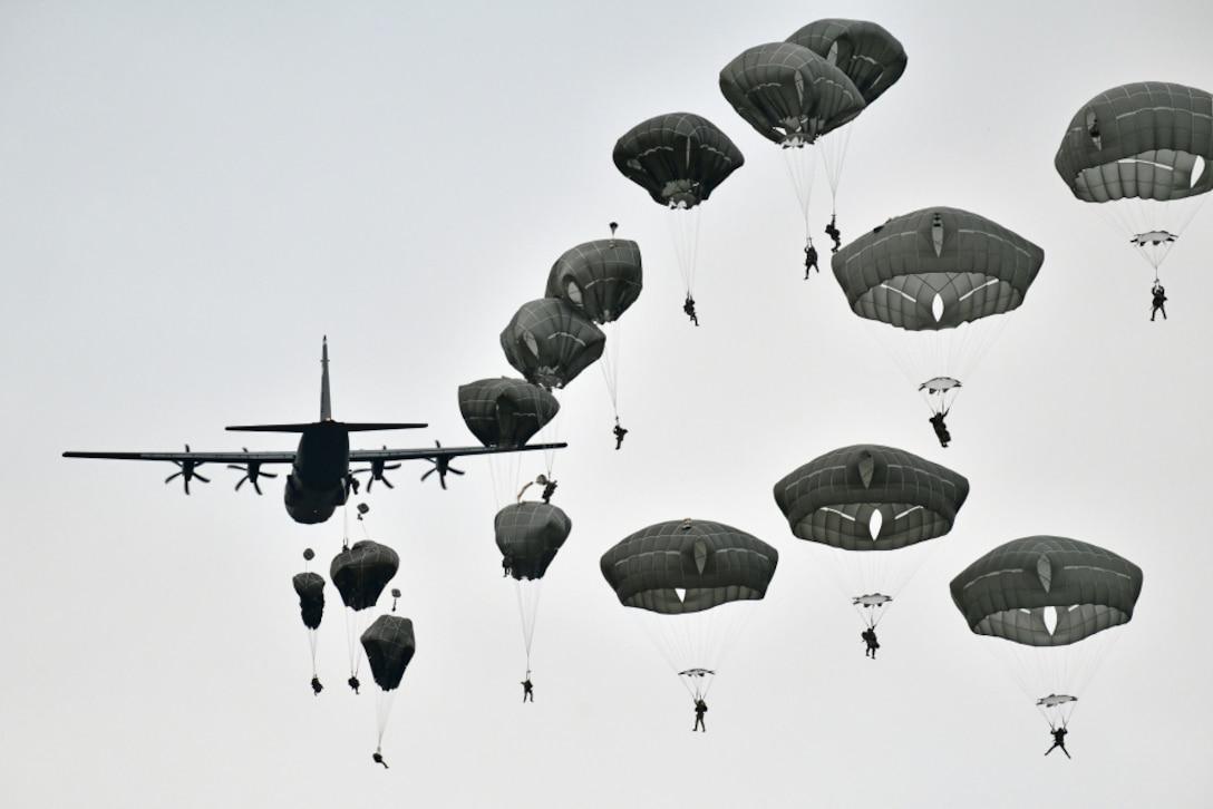 C-130 Hercules at Juliet Drop Zone