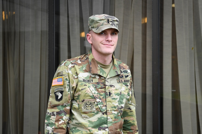 A man dressed in a military uniform