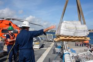 NSC James offloads $411.3M in drugs seized in Eastern Pacific Ocean