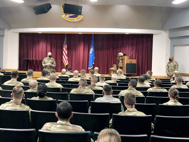 Air Force SFS top leadership visit Guard, Reserve members