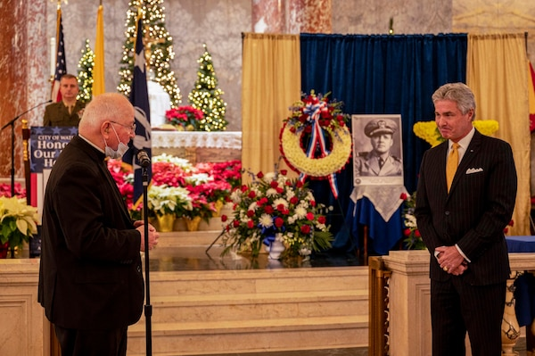 Lt. Thomas M. Conway posthumously awarded the Navy Cross.