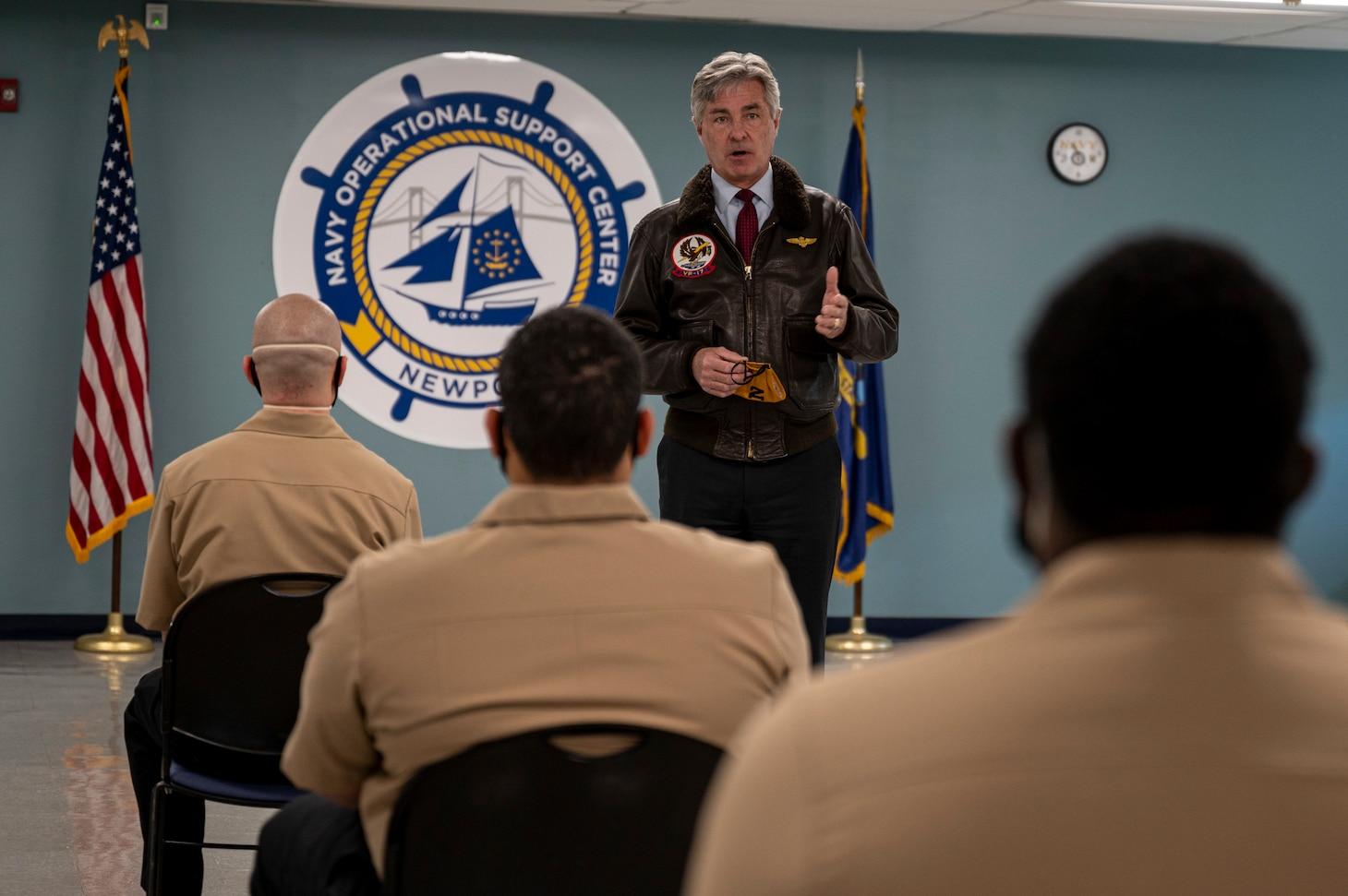 Secretary of the Navy visits NOSC Newport