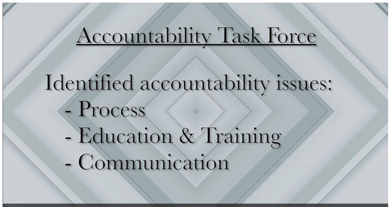 Gen. Arnold W. Bunch, Jr., Air Force Materiel Command Commander, discusses command-wide efforts to drive greater accountability across the mission set.  (U.S. Air Force video by Ryan Law)