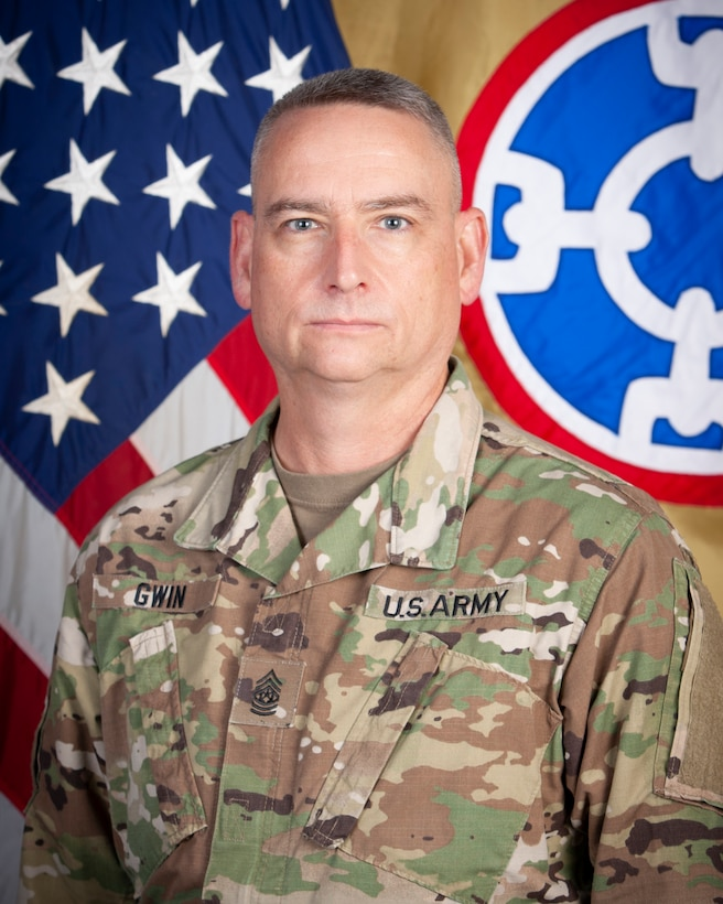 Command Sgt. Maj. Keith A. Gwin, 310th Sustainment Command (Expeditionary) Senior Enlisted Advisor