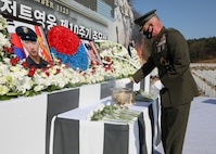 Maj. Gen. Bradley S. James attended a commemoration ceremony at the Daejeon National Cemetery that honored the 10-year anniversary of the bombardment of Yeonpyeong Island.