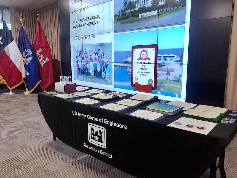 Galveston District announces annual award recipients for 2020.