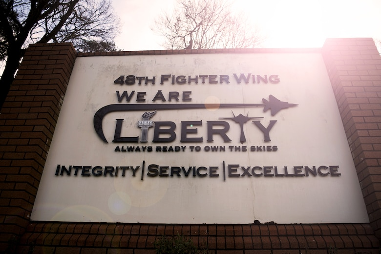 Sign of the 48th Fighter Wing.