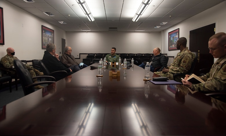 Idaho State Representatives have a discussion with 366th Fighter Wing leaders.