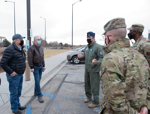 Idaho State Representatives meet 366th Fighter Wing leaders.