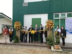 Department of Agriculture Undersecretary Dr. William Medrano, Director of the Bureau of Animal Industry Dr. Ronnie Domingo, and U.S. Embassy staff participate in the ribbon-cutting ceremony in Tuguegarao City