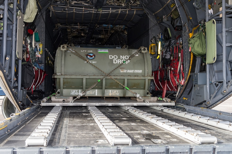Cargo on a Polish air force C-130E Hercules sits ready to be unloaded by Airmen from the 436th Aerial Port Squadron Dec. 17, 2020, at Dover Air Force Base, Delaware, as part of a foreign military sales mission. The United States and Poland have enjoyed warm bilateral relations since 1989. Poland is a stalwart NATO ally, and both the U.S. and Poland remain committed to the regional security and prosperity of Europe. Due to its strategic location, Dover AFB supports approximately $3.5 billion worth of foreign military sales annually. (U.S. Air Force photo by Roland Balik)