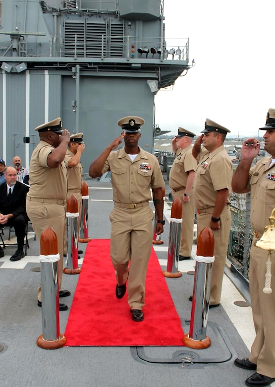Newly promoted Chief Gunner's Mate