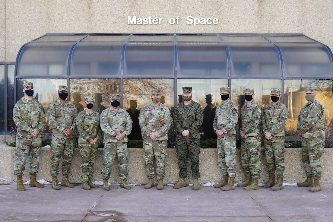 SCHRIEVER AIR FORCE BASE, Colo. – Leadership from Space Deltas 6, 8, 9, and STAR Delta Provisional, pose for a photo with U.S. Army Gen. James H. Dickinson, United States Space Command commander, during a visit to Schriever AFB, Jan. 7, 2021. Gen. Dickinson and the Delta leadership teams discussed how their missions will support and augment the combatant command now and in the future. (U.S. Space Force Photo by Dennis Rogers)