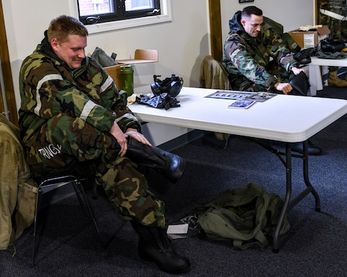 The 910th Civil Engineer Squadron taught chemical, biological, radiological, nuclear and high yield explosives, commonly called CBRNE, defense courses during the 910th Airlift Wing's unit training assembly, Jan. 9-10, 2021, here.