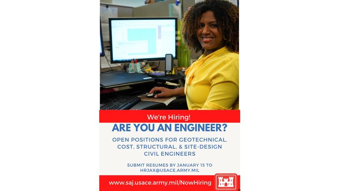 Jacksonville District hiring senior-level engineers
