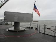 Photo of a Sea Sparrow on a U.S. Navy ship
