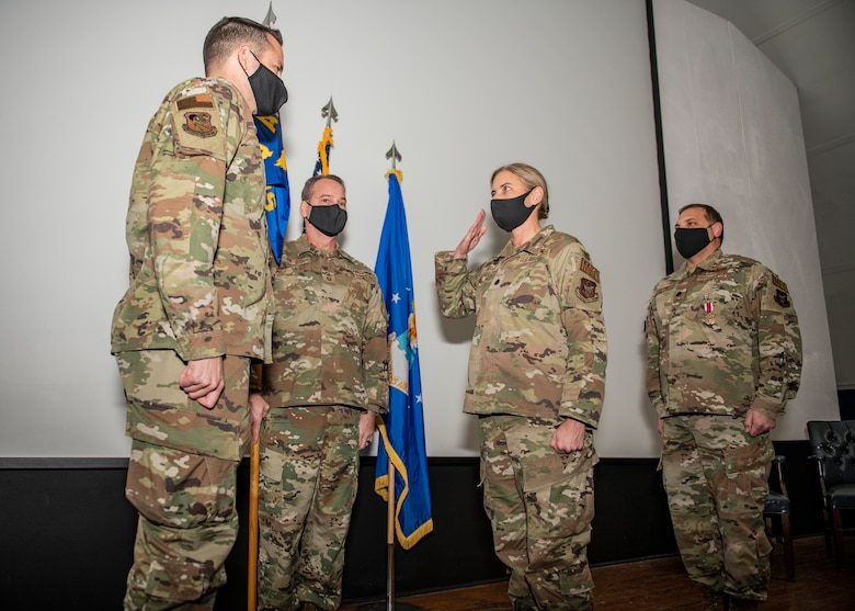 Lt. Col. Jenny Wylie takes command of the 919th Special Operations Medical Squadron at Duke Field, Florida, on Jan. 10, 2021.
