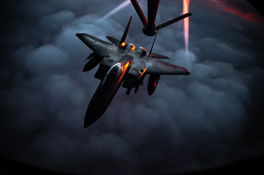 50th EARS provide fuel to F-15s/F-16s