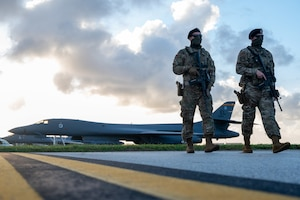 Bomber Task Force Airmen support mission operations in Andersen Air Force Base