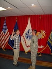 Jonathon Sweet, left,  takes the oath of enlistment into the United States Marine Corps in 2011. Now a staff sergeant in the Marine Corps, Sweet has returned to Recruiting Substation Northern Michigan to help the next generation of young men and women explore their opportunities.