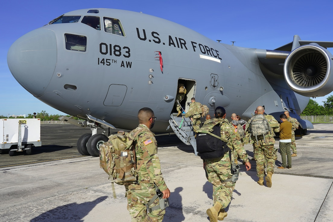 PRANG Airmen support PRNG Soldiers for presidential inauguration