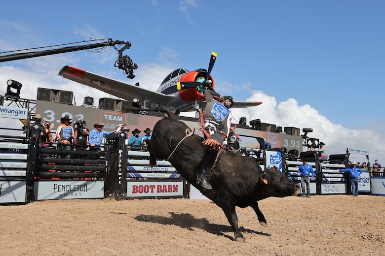 The Air Force Reserve and the Professional Bull Riders took part in a unique partnership Nov. 22, 2020.