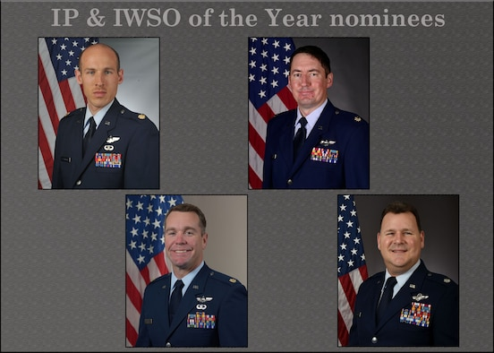 The 944th Fighter Wing 2020 Annual Awards Instructor Pilots and Instructor Weapons Systems Operator nominees. (U.S. Air Force photo illustration by Master Sgt. Louis Vega Jr.)