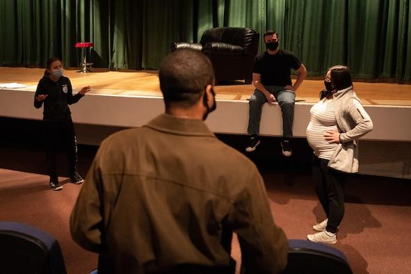 Cannon Airman practice improvisation techniques for theatre club.