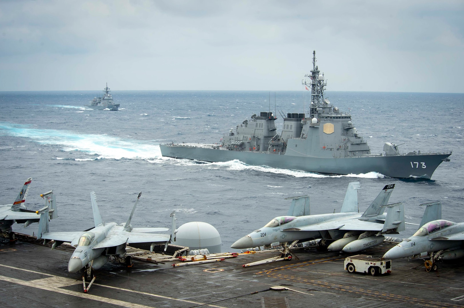 Theodore Roosevelt Carrier Strike Group Conducts Bilateral Exercise with Japan Maritime Self-Defense Force