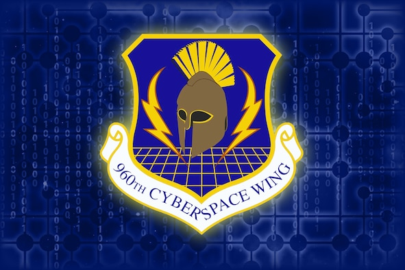 The 960th Cyberspace Wing emblem cover image for stories that have no associated photographs or art, created Jan. 19, 2021, at Joint Base San Antonio-Chapman Training Annex, Texas. (U.S. Air Force image by Samantha Mathison)