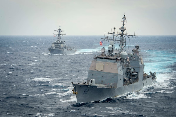 USS Theodore Roosevelt (CVN 71) is underway in the Pacific Ocean.