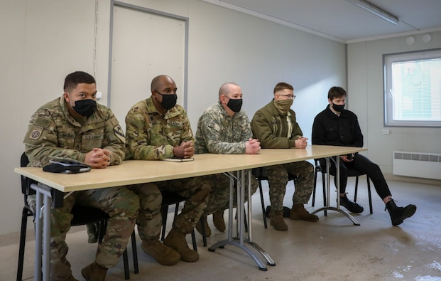 Lithuanian military cadets get inside look at lives of Troopers