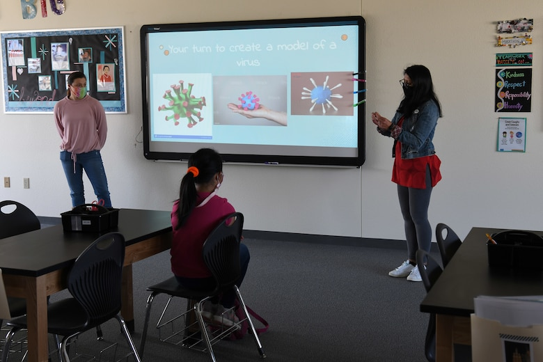 Students participate in the Disease Ecology and Viruses STARBASE Vandenberg class Jan. 13, 2021, at Vandenberg Air Force Base, Calif.