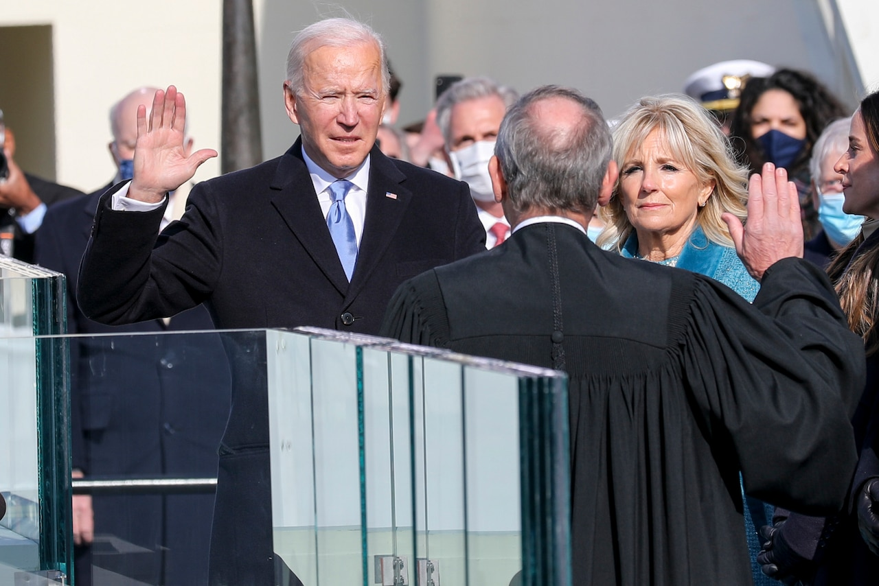 President-elect Joseph R. Biden Jr. takes the presidential oath of office.