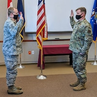 Brown reenlists in ANG