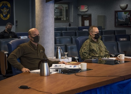 Fleet Commanders Meet Virtually on USS Blue Ridge