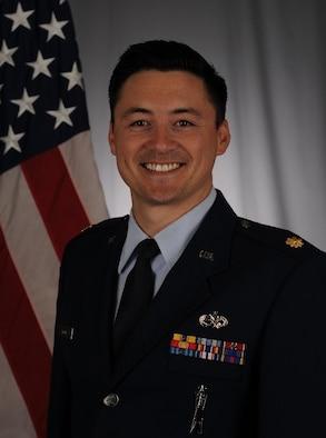 Studio photo of Maj. Christopher Wood, 420th Munitions Squadron commander. (Courtesy photo)