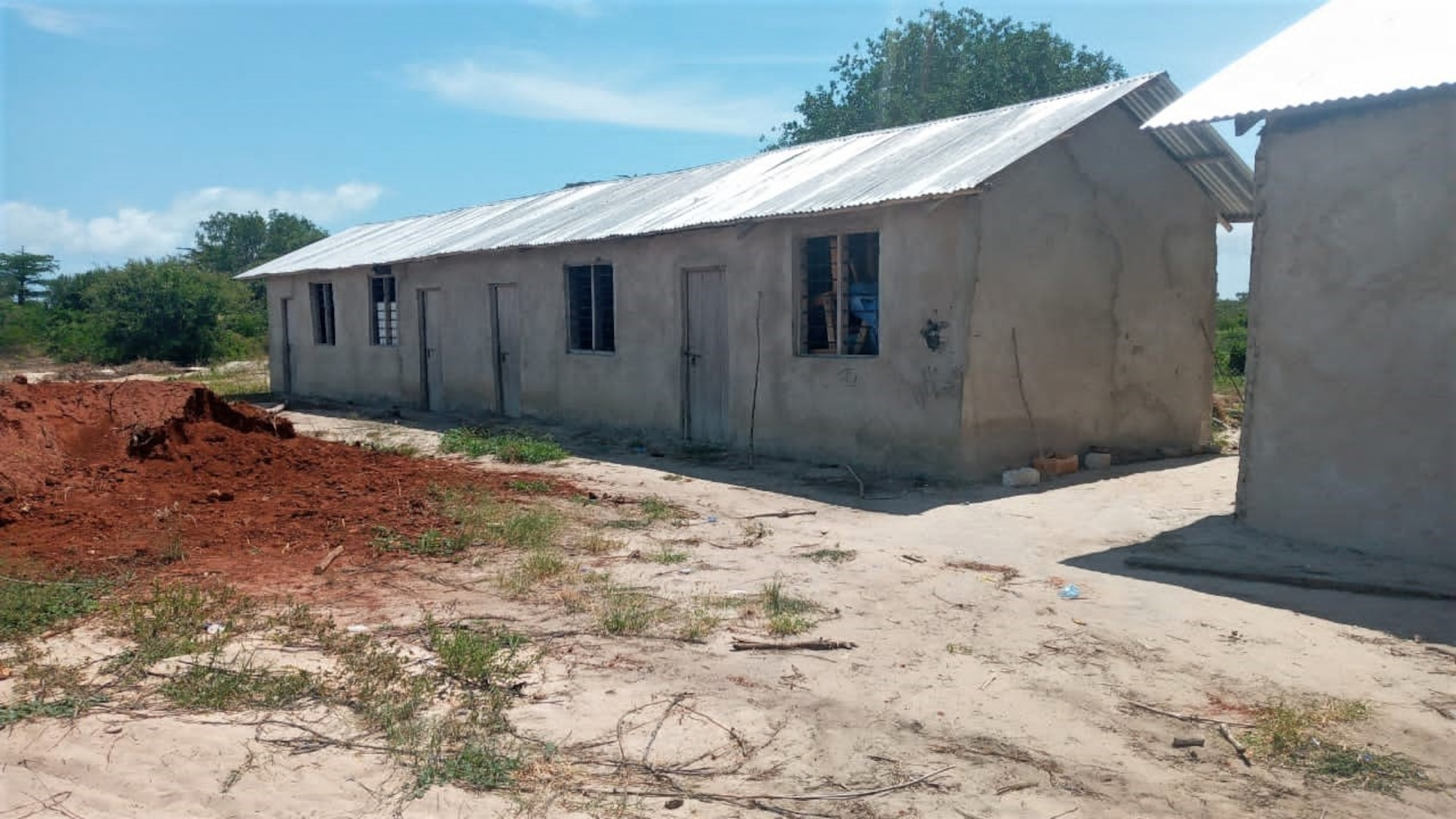 The newly completed primary school in Magogoni Village awaits the welcome of more than 120 students through the doors in Lamu, Kenya, Jan. 9, 2021.