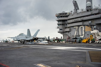 USS Carl Vinson (CVN 70) conducts flight operations.