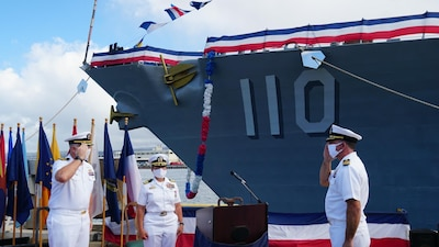Cmdr. Kevin S. McCormick assumes command of USS William P. Lawrence (DDG 110).