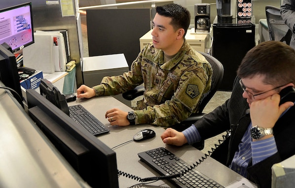 Operations at U.S. Army Cyber Command (ARCYBER) headquarters, Fort Belvoir, Va.